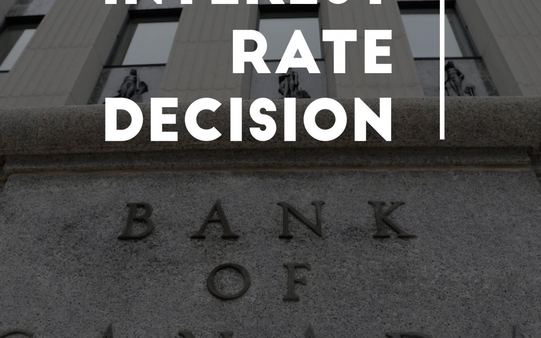 Bank of Canada Interest Rate Decision – October 25th, 2017